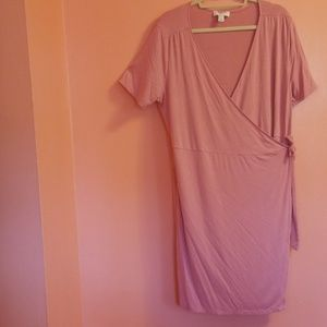 Forever21+ pastel pink dress